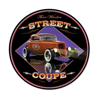 Street Coupe  **Shield Metal Sign**
