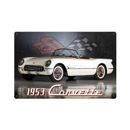1953 Corvette  **Shield Metal Sign**