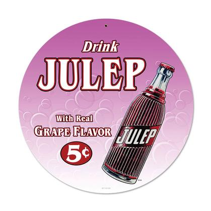 Drink Julep  **Shield Metal Sign**