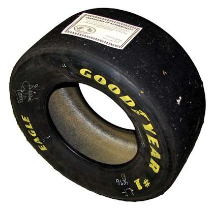 Autographed Richard Pettty Real Racing Tire
