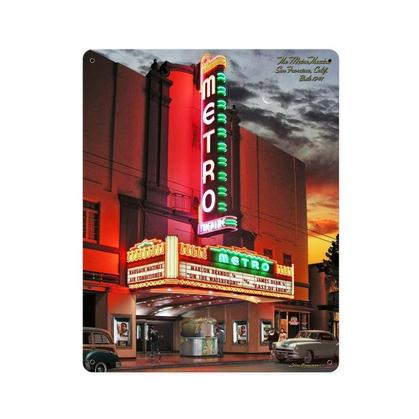 Metro Theatre  **Shield Metal Sign**