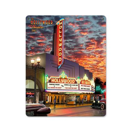 Hollywood Theatre  **Shield Metal Sign**