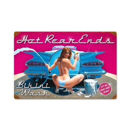 Hot Rear Ends - Bikini Wash  **Shield Metal Sign**