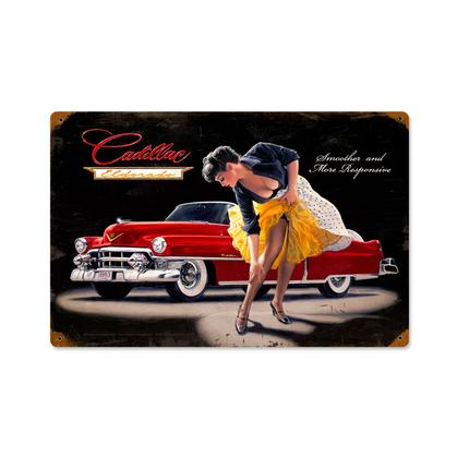 Cadillac Eldorado - Smooth and Sensual  **Shield Metal Sign**