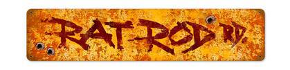 Rat Rod Road  **Shield Metal Sign**