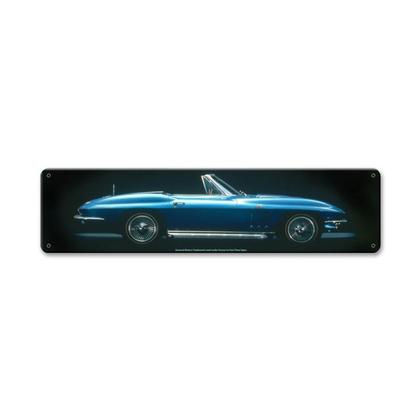 Blue Corvette  **Shield Metal Sign**
