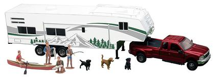 Ford F-350 Pick Up w/Fifth Wheel Camping Set