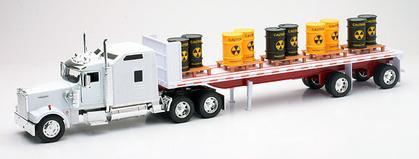 Kenworth W900 Flatbed Toxic Barrels