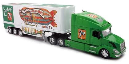 VOLVO VN-780 7UP Truck Diecast Car Model Toy 1:32