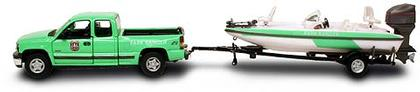 Park Ranger Service - Chevy Silverado 1500 Truck with Boat and Trailer