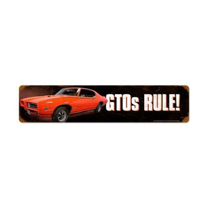 GTOs Rule!  **Shield Metal Sign**