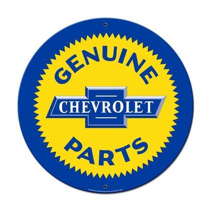 Genuine Chevrolet Part  **Round Shield Metal Sign**