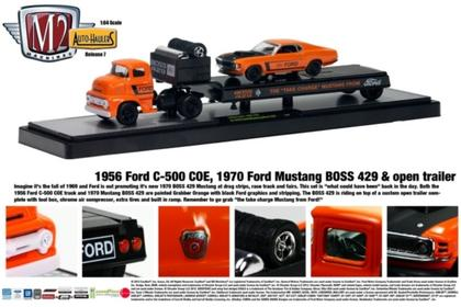 1956 Ford C-500 COE & 1970 Ford Mustang Boss 429 & Open Trailer