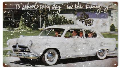 To School Every Day In The Henry J Automobile