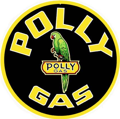 Polly Gas Station Sign 18 Round