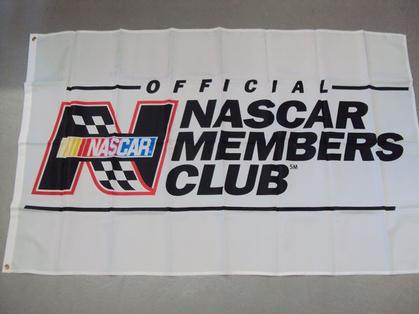 Official Nascar Members Club Flag *White*