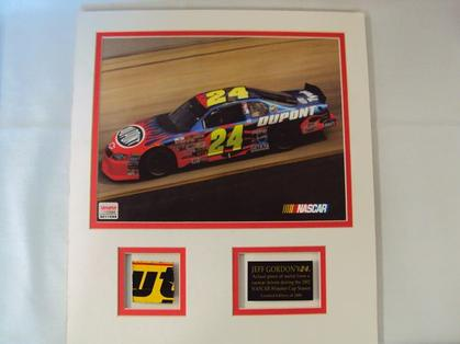 Collage Jeff Gordon #24 with metal piece