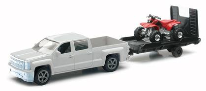 Chevrolet Silverado 1500 Crew Cab With Trailer and ATV