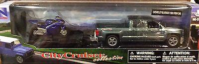 Chevrolet Silverado 1500 Crew Cab With Trailer and Motorcycle