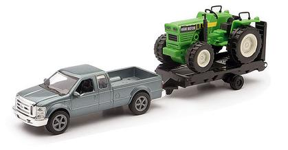 Ford F-250 Super Duty with trailer and Tractor