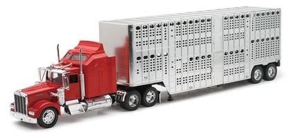 Kenworth W900 Pot Belly Livestock Truck