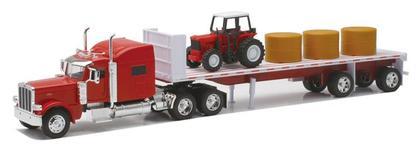 Peterbilt 389 W/ Hay & Farm Tractor