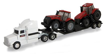 Magnum 235 and 290 Tractors with Semi and Drop Bed Trailer