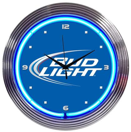 Bud Light Neon Clock