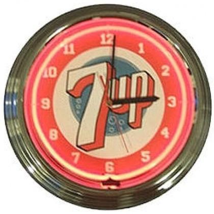 7up Neon Clock
