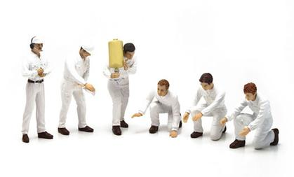 GP Pit Crew Figurines - Classic Style White