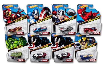 Set of 7 cars of Marvell