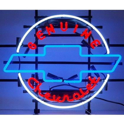 GM Genuine Chevrolet Heritage Emblem Neon Sign
