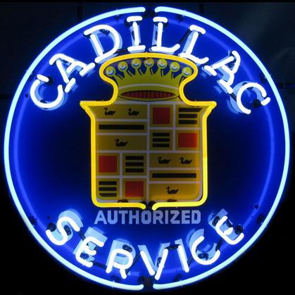 GM Cadillac Service Neon Sign