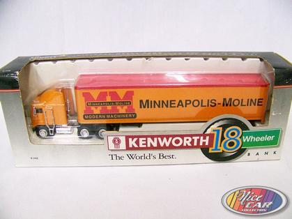 Kenworth K100E Avec remorque Minneapolis-Moline Bank