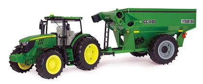 John Deere 6210R Tractor with Frontier Grain Cart