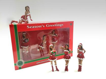 Christmas Girls (Set of 4) 1:24 - Holiday