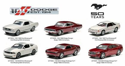 Set of 6 Cars Ford and Dodge