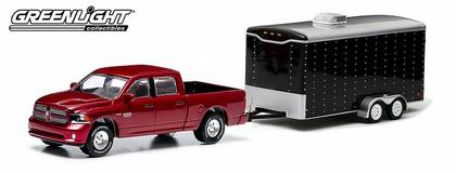 Dodge Ram 1500 2014 Sport and Enclosed Car Hauler - Hitch & Tow Series 1