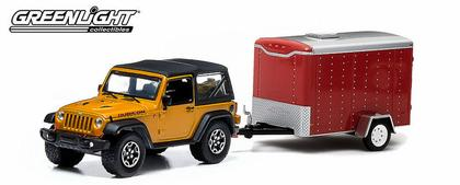Jeep Wrangler Rubicon X 2014 and Small Cargo Trailer - Hitch & Tow Series 1