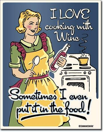 I Love Cooking With Wine...