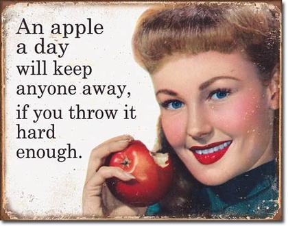 An apple a day will keep anyone away...