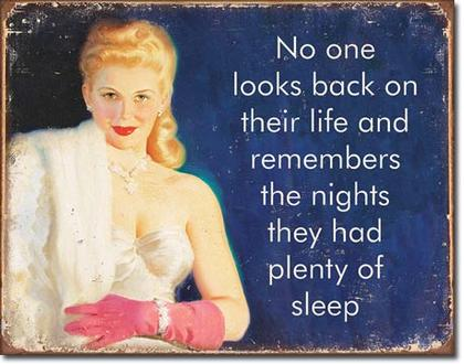 No one looks back on their life...