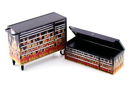 Snap-On Tool Chest 1/18 Flames