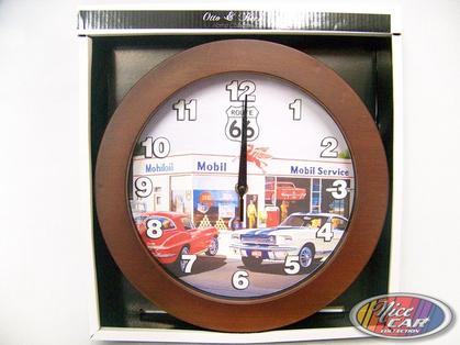 Clock Route 66 with mustang and corvette