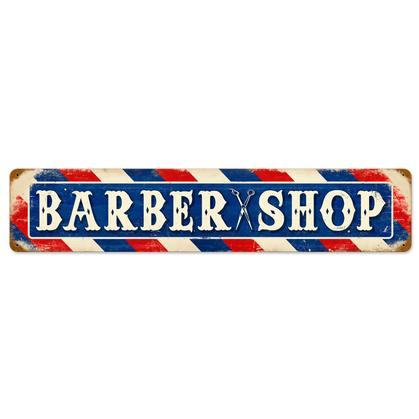 Barber Shop  **Shield Metal Sign**