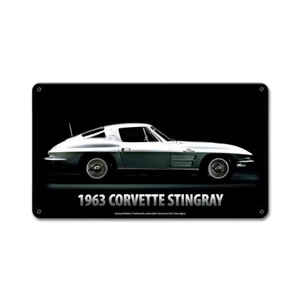 Chevrolet Corvette Stingray 1963 **Shield Metal Sign**