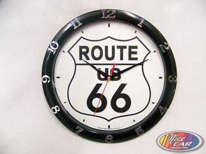 Clock Route 66 12in.