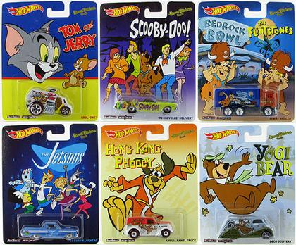 SET OF 6 1:64 Hot Wheels Pop Culture 2014 - Hanna Barbera