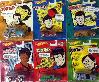 SET OF 6 1/64 Hot Wheels 2013 Star Trek Pop Culture P