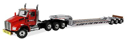 Case IH Agriculture Kenworth T880 with Tri-Axle Lowboy